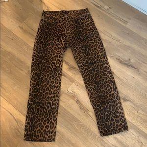 Zara Leopard Jeans